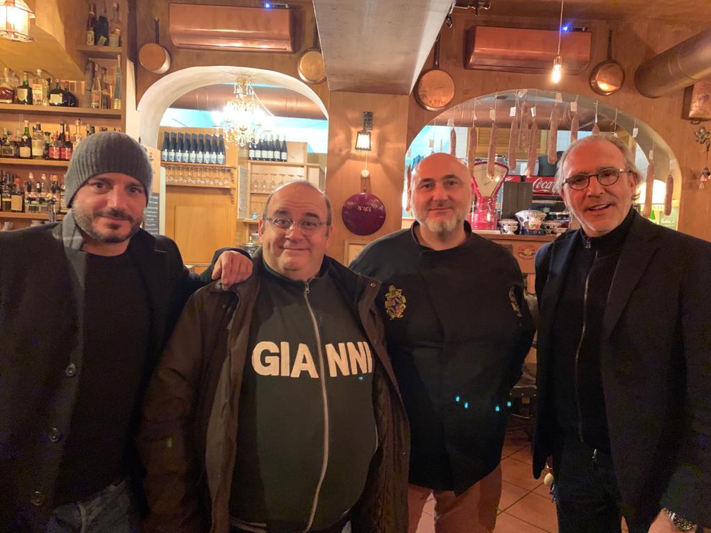 Nicolas Vaporidis, Gianni Fantoni e Luca Ward