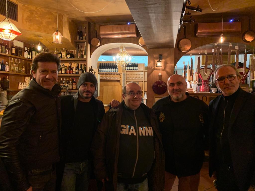Paolo Conticini, Nicolas Vaporidis, GIanni Fantoni e Luca Ward